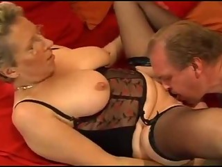 Amateur German old couple fuck