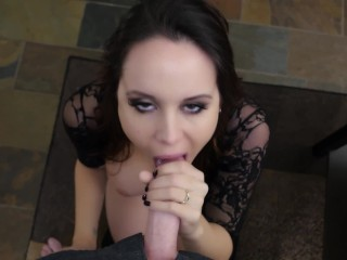 Returning home to bryci's blowjob