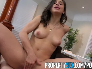 Propertysex - college student fucks big ass real estate agent