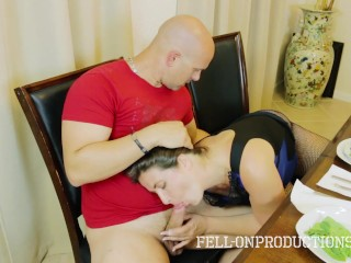 Home for christmas with my horny stepmom