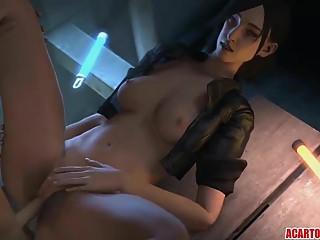 Horny Juli Kidman fucked by various big dicks