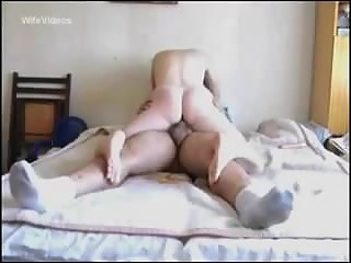 wife sliding up and down on my dick