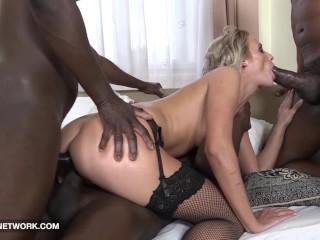 Hardcore gangbang double anal double penetration interracial cumshot facial